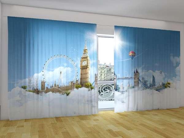 Panorama-Fotogardinen: HIMMEL ÜBER LONDON