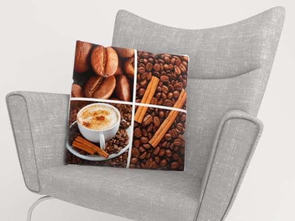 Foto-Kissenbezug: KAFFEE COLLAGE 2c
