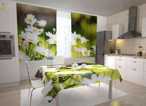 Küchen-Fotogardinen: SCHÖNE KAMILLEN