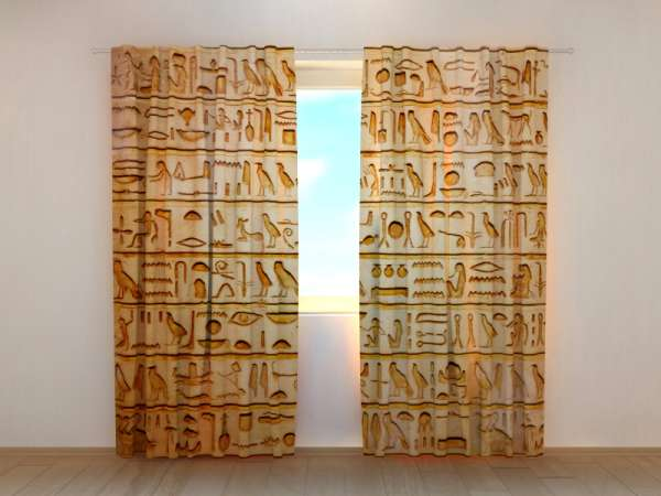 Fotogardinen: ÄGYPTISCHE HIEROGLYPHEN