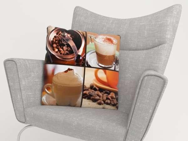 Foto-Kissenbezug: KAFFEE COLLAGE 5b