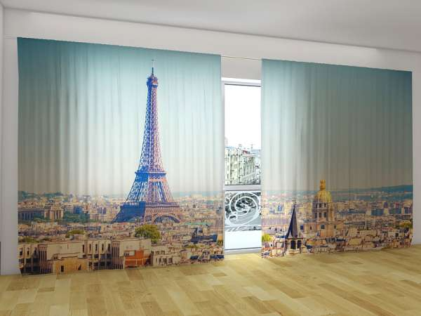 Panorama-Fotogardinen: MORGENS IN PARIS