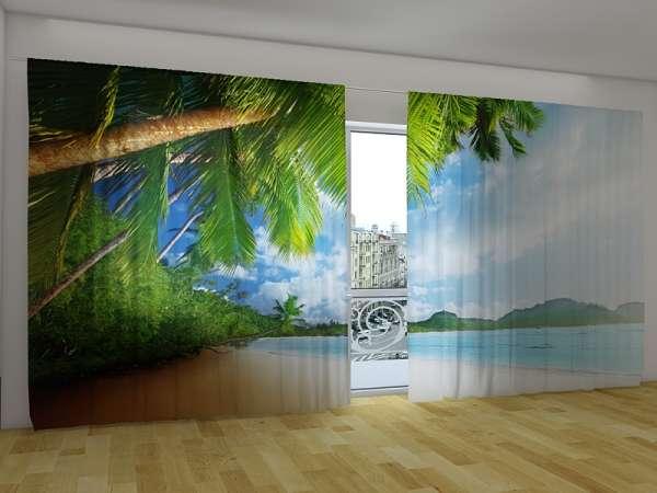 Panorama-Fotogardinen: PALMENINSEL UND BERGE