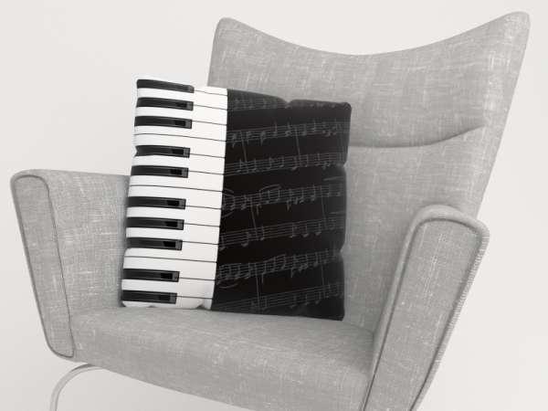 Foto-Kissenbezug: PIANO TASTEN