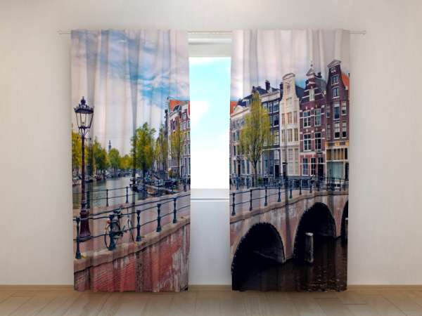 Fotogardinen: BRÜCKE IN AMSTERDAM