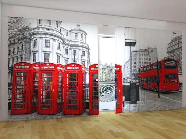 Panorama-Fotogardinen: TELEFONZELLEN VON LONDON