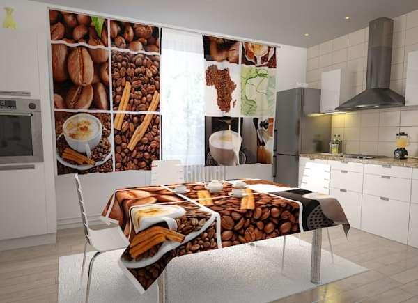 Küchen-Fotogardinen: KAFFEE COLLAGE 1