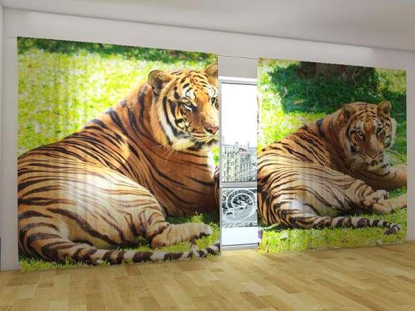 Panorama-Fotogardinen: BENGALISCHE TIGER