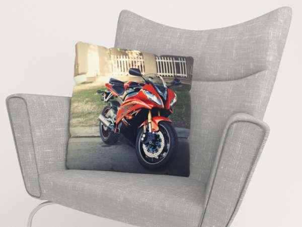 Foto-Kissenbezug: ROTER MOTORRAD