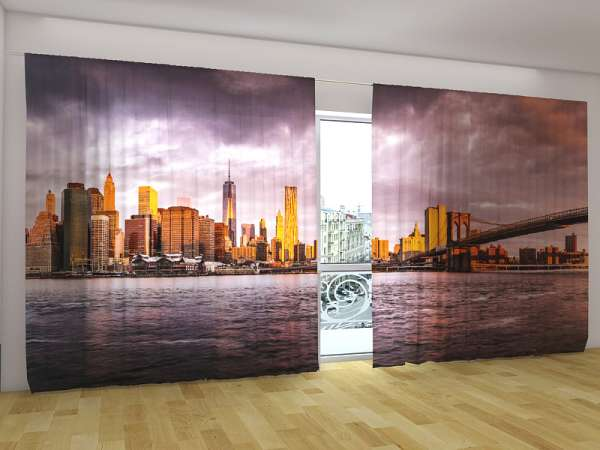 Panorama-Fotogardinen: GEWITTER ÜBER NEW YORK