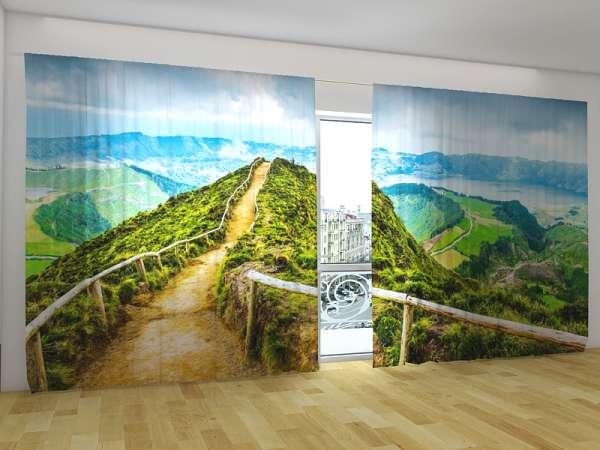 Panorama-Fotogardinen: DER WEG ZUR BERGSPITZE