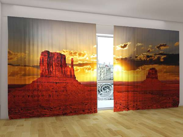 Panorama-Fotogardinen: SONNENUNTERGANG IN ARIZONA