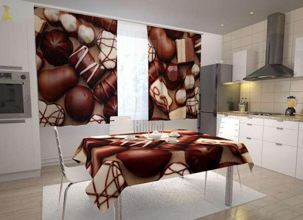 Küchen-Fotogardinen: SÜSSE PRALINEN