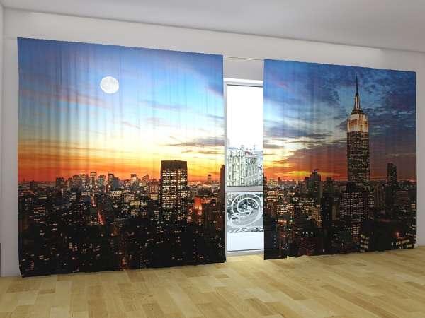 Panorama-Fotogardinen: SONNENAUFGANG ÜBER NEW YORK