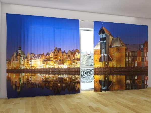 Panorama-Fotogardinen: DANZIG AM ABEND