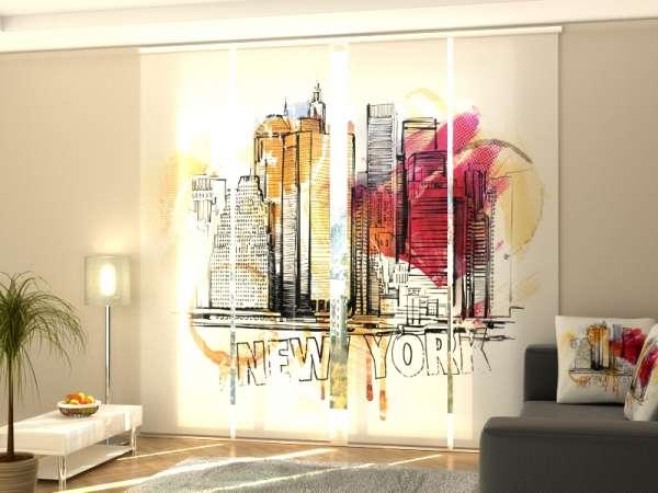 Schiebegardine (1-4 tlg.) NEW YORK ART