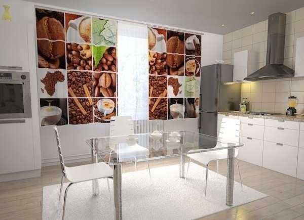 Küchen-Fotogardinen: KAFFEE COLLAGE 2