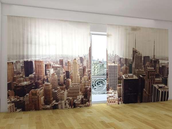 Panorama-Fotogardinen: LUFTBILD VON MANHATTAN