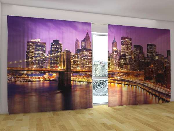 Panorama-Fotogardinen: HIMMEL ÜBER MANHATTAN