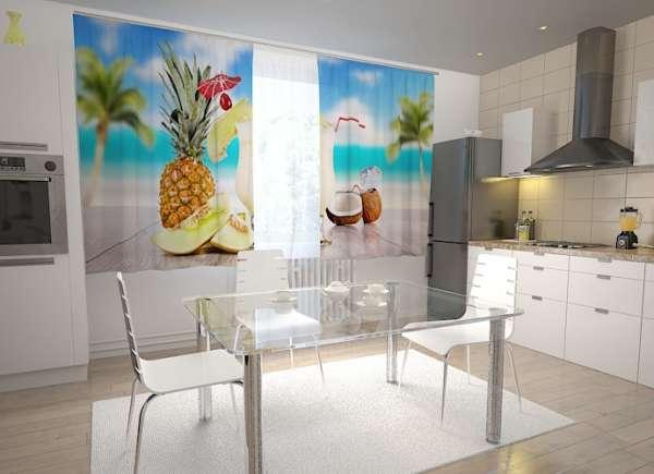 Küchen-Fotogardinen: ERFRISCHUNG AUF HAWAII