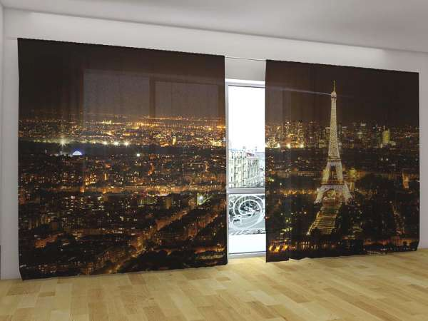 Panorama-Fotogardinen: PARIS BEI NACHT